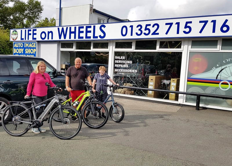 ebikes revolution at life on wheels bike shop holywell
